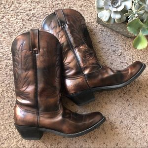 Road Wolf cowgirl boots, leather, 8.5M